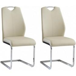 JULIETTA KR0110-MET-YBS06 krzesła komplet 2 szt