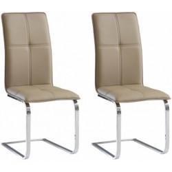 JULIETTA KR0113-MET-YBS12 krzesła komplet 2 szt