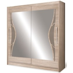 DOME szafa 150 cm z lustrem przesuwna