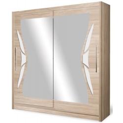 DOME szafa 200 cm z lustrem przesuwna