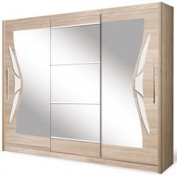 DOME szafa 240 cm z lustrem przesuwna