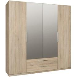 CADIXO CDXS84S duża szafa 200 cm z lustrem i szufladami