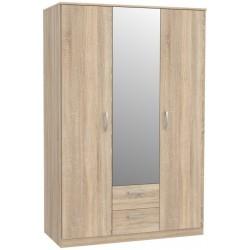 NIKO NIKS82 szafa 123 cm z lustrem i szufladami