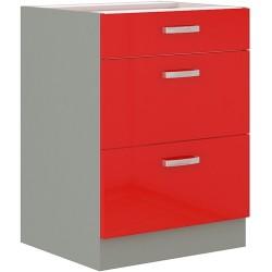 Red 60 D 3S szafka dolna z szufladami