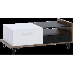 BOX 03 ława 2D2S 125 cm stolik kawowy z szufladami
