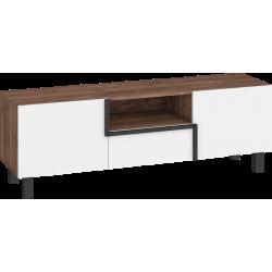 LARS 09 stolik RTV 2D1S 150 cm z szufladą na nóżkach