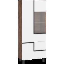 LARS 13 witryna 3D 80 cm na nóżkach z półkami