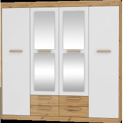 MAXIMUS 06 garderoba 4D4S 196 cm szafa z lustrem i szufladami