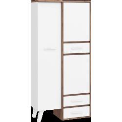 NORDIS 15 szafa 90 cm dwudrzwiowa z szufladami