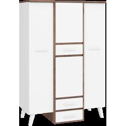 NORDIS 16 szafa 130 cm trzydrzwiowa z szufladami