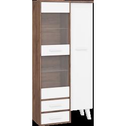 NORDIS 17 witryna 90 cm dwudrzwiowa z szufladami