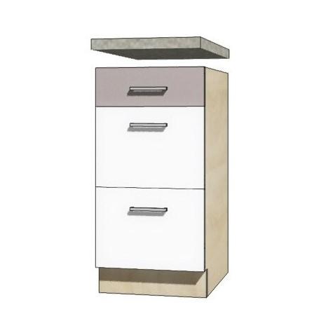 GLOBAL glo-8d szafka dolna 40 cm z szufladami