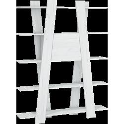 VIA 08 regał 150 cm 2D drabinka z półkami i barkiem