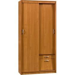 ALEKSANDER 3 szafa przesuwna 100 cm z półkami i szufladą