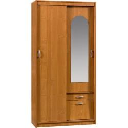 ALEKSANDER 3 szafa przesuwna 100 cm z lustrem i szufladą