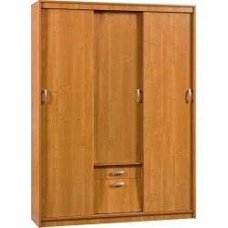 ALEKSANDER 4 szafa przesuwna 149 cm z półkami i szufladą