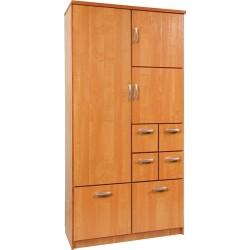 BARCELONA 100 szafa 101 cm z półkami i szufladami