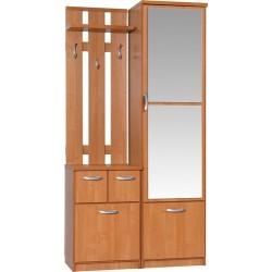 BARCELONA 100 LUX garderoba 103 cm do przedpokoju z lustrami