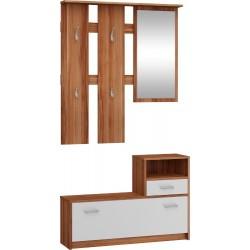 LUNA zestaw przedpokojowy 100 cm z lustrem i wieszakami