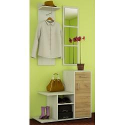 MIKA garderoba wieszak 90 cm z lustrami