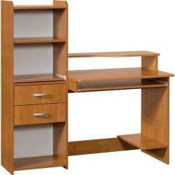SATURN biurko 130 cm z nadstawką i półką pod klawiaturę