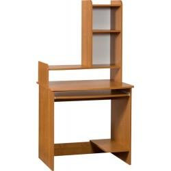 MEDIUM MAX biurko 80 cm z półką na klawiaturę i nadstawką