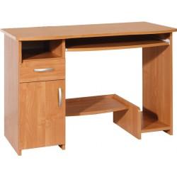 KIER biurko 110 cm z półką na klawiaturę i szufladą