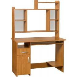 KIER MAX biurko 110 cm z półką na klawiaturę i nadstawką