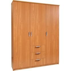 PARIS szafa trzydrzwiowa 150/40 z półkami i szufladami