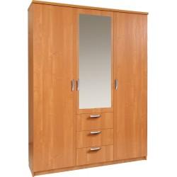 PARIS szafa trzydrzwiowa 150/40 z lustrem i szufladami