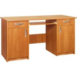 DUET biurko 125 cm narożne z półką na klawiaturę i szufladami