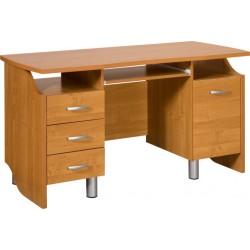 COMBI biurko 140 cm z półką na klawiaturę i szufladami