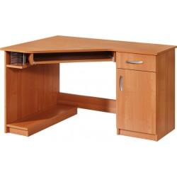 CARMEN biurko 140 cm z półką na klawiaturę i szufladami