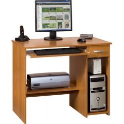 KUBA biurko 90 cm z półką na klawiaturę i szufladą