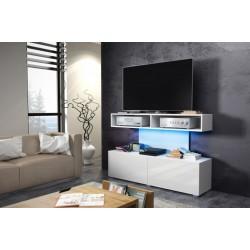 REX szafka RTV 140 cm wysoka z półkami