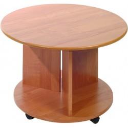 KÓŁKO D ława 70 cm stolik kawowy okrągły na kółkach