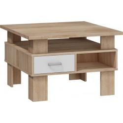 GAMMA ława 80 cm stolik kawowy z szufladami i półkami