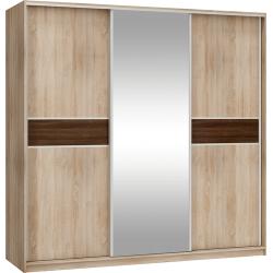 PUERTO L220D szafa 220 cm trzydrzwiowa z lustrem