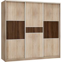 RICO 220D szafa 220 cm trzydrzwiowa z półkami