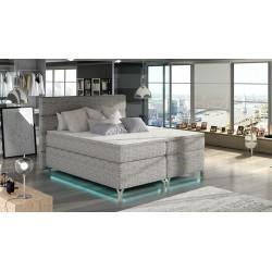 Amadeo łóżko kontynentalne z oświetleniem LED