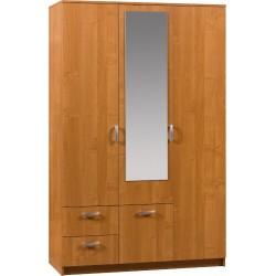 WENECJA 2 szafa 121 cm z lustrem i szufladami