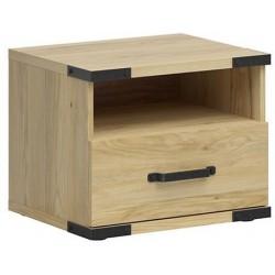 LARA KOM1S szafka nocna 50 cm z szufladą