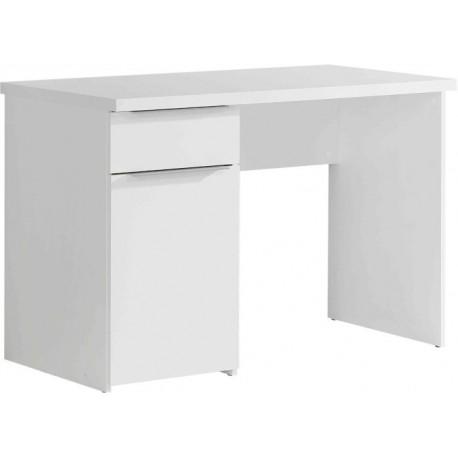 Biurko Opus OPSB313L-U42 110 cm z szufladą białe