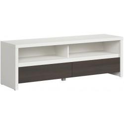 KASPIAN RTV2S 143,5 cm z szufladami biały wenge