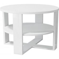 Tres - stolik kawowy Biały połysk