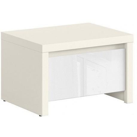 Kaspian szafka nocna KOM1S biały / biały połysk