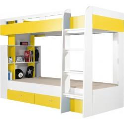 Mobi MO19 łóżko piętrowe 90cm żółty