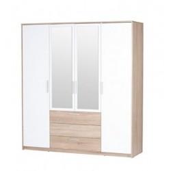 MILO 02 szafa 187 cm czterodrzwiowa z szufladami