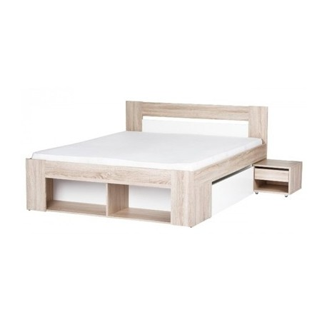 MILO 08 łoże 140 cm + 2 szafki nocne + 2 szuflady