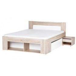 MILO 09 łoże 160 cm + 2 szafki nocne + 2 szuflady